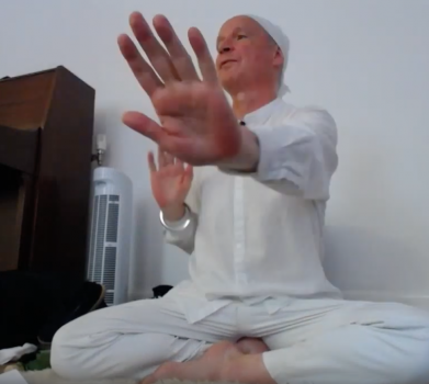 Balancing the navel and the heart centre